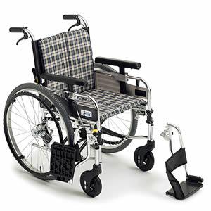 自走介助兼用モジュール車椅子 MYUシリーズ スイングアウト MYU226JDSW ミキ