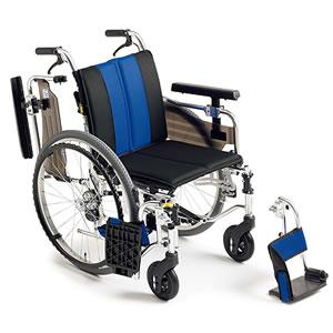 自走介助兼用座面高モジュール車椅子 MYU4シリーズ MYU4-22 ミキ【受注生産品】