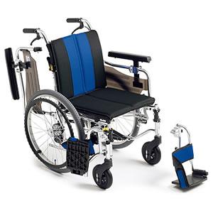 自走介助兼用座面高モジュール車椅子 MYU4シリーズ MYU4-20 ミキ