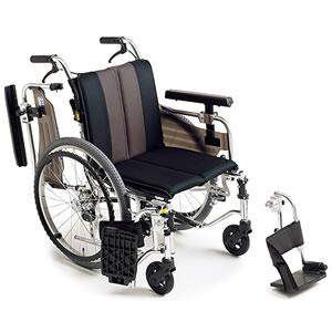 自走介助兼用座面高モジュール車椅子 MYU4シリーズ MYU4-OP ミキ【受注生産品】