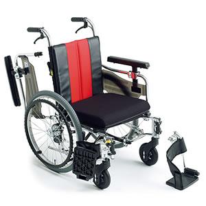 エムエムフィット MM-Fit Lo 20 自走介助兼用車椅子 座面高&幅調節&押し手高モジュール ミキ