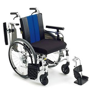 エムエムフィット自走介助兼用モジュール車椅子 標準高タイプ MM-Fit Hi 22 ミキ
