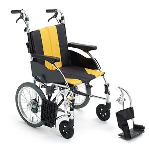 アップライトシリーズ UR-4 押し手高調整機能付 介助式車椅子 ミキ