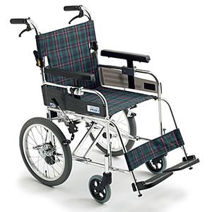 連動式駐車ブレーキ付 介助型車椅子 ふみ子ちゃん2 MXシリーズ MXC-2 ミキ