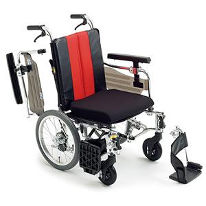 エムエムフィット MM-Fit Lo 16 介助式車椅子 座面高&幅調節&押し手高モジュール ミキ