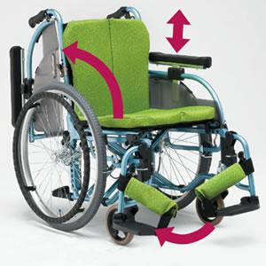 ALL抗菌セミモジュールタイプ 自走介助兼用車椅子 REM-101 松永製作所