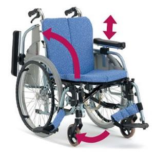 ALL抗菌フルモジュールタイプ 自走型車椅子 REM-1000 松永製作所