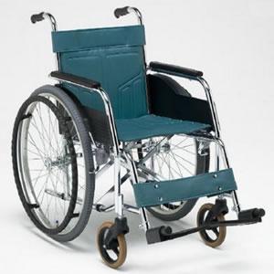 DMシリーズ DM-91 (中床) スチール製 スタンダードタイプ 自走型車椅子 松永製作所