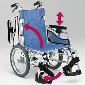 軽量&超低床アームサポート跳ね上げ&スイングアウト介助型車椅子 MW-SL6B 松永製作所