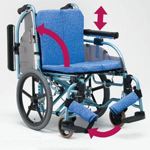 ALL抗菌セミモジュールタイプ 介助型車椅子 REM-101 松永製作所