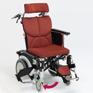 ティルトリクライニング車椅子オアシスシリーズ OS-12TRS ショートタイプ 松永製作所