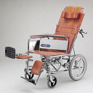 介助型車いす スチール製リクライニング車いす NDH-15 日進医療器