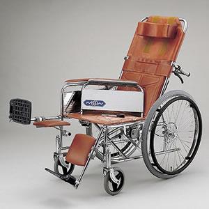 介助型車いす スチール製リクライニング車いす ND-15 日進医療器