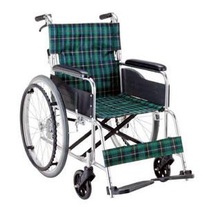 エコノミーシリーズ アルミ製自走介助兼用 ノーパンク車椅子 背折れ式 EW-50GN マキテック