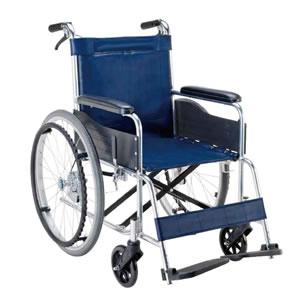 エコノミーシリーズ アルミ製ノーパンク自走介助兼用車椅子 背固定式 EW-20 マキテック
