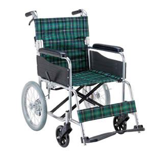 エコノミーシリーズ アルミ製介助型ノーパンク車椅子 背折れ式 EW-30GN マキテック