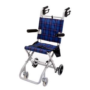 軽量コンパクト車椅子 のっぴープラス 青 NP-001NC マキテック