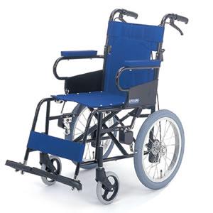 【片山車椅子製作所】ハンディチェアー KW-206B 介助式車椅子