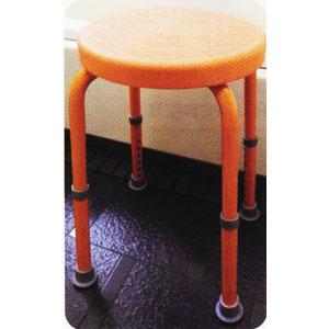 福浴 回転シャワーチェアー プチトール オレンジ FKB-06-30D 座面幅30.5