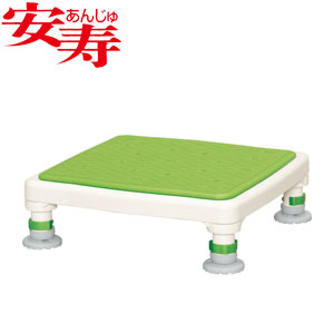 安寿 アルミ製浴槽台 あしぴた ジャストソフト10-15 グリーン 536-520 アロン化成 高さ10-15cm