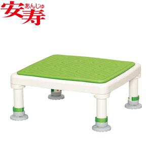安寿 アルミ製浴槽台 あしぴた ジャストソフト15-25 グリーン 536-521 アロン化成 高さ15-25cm