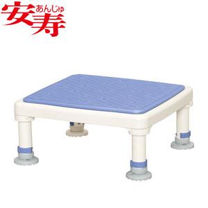 安寿 アルミ製浴槽台 あしぴた ジャストソフト15-25 ブルー 536-517 アロン化成 高さ15-25cm