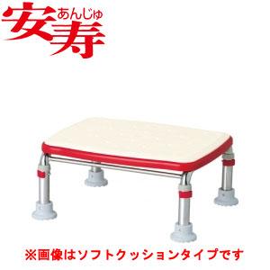 安寿 ステンレス製浴槽台R あしぴた ジャスト17.5-25 レッド 536-496 アロン化成 高さ17.5-25cm
