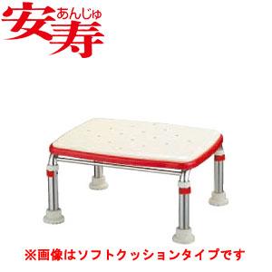 安寿 ステンレス製浴槽台R あしぴた ジャスト20-30 レッド 536-498 アロン化成 高さ20-30cm