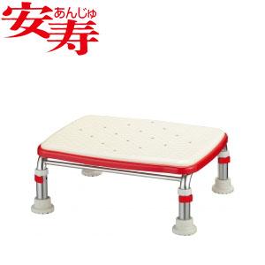 安寿 ステンレス製浴槽台R あしぴた ジャストソフト15-20 レッド 536-502 アロン化成 高さ15-20cm