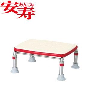 安寿 ステンレス製浴槽台R あしぴた ジャストソフト17.5-25 レッド 536-503 アロン化成 高さ17.5-25cm