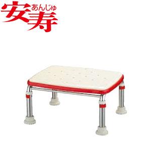 安寿 ステンレス製浴槽台R あしぴた ジャストソフト20-30 レッド 536-504 アロン化成 高さ20-30cm
