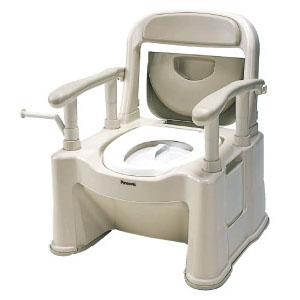 樹脂製ポータブルトイレ 座楽 SP型 背もたれ型SP(ベージュ) VALSPTSPBE パナソニックエイジフリー