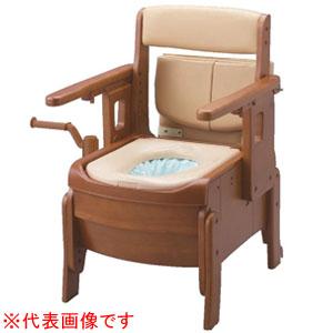安寿 家具調トイレ セレクトR 自動ラップ はねあげタイプ ソフト便座 533-944 アロン化成