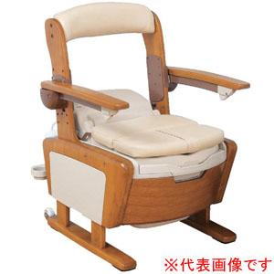 安寿 家具調トイレ AR-SA1 シャワピタ ひじ掛けはねあげタイプ (L)タイプ 533-814 アロン化成