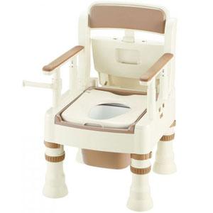 ポータブルトイレ きらく Mシリーズ MS型 普通便座 アイボリー 45601 リッチェル