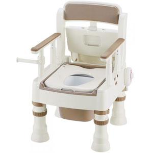 ポータブルトイレ きらく Mシリーズ MH型 暖房便座 アイボリー 45621 リッチェル