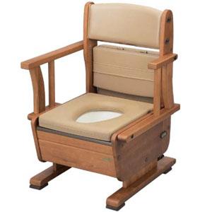 ポータブルトイレ さわやかチェアPTW 肘掛け自在タイプ 8230 ウチエ ゆったり設計タイプ