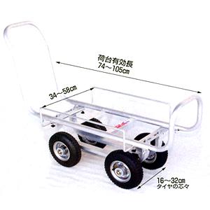 アルミ製ハウスカー(タイヤ幅調節タイプ) 愛菜号 CH-950A HARAX(ハラックス) エアータイヤ