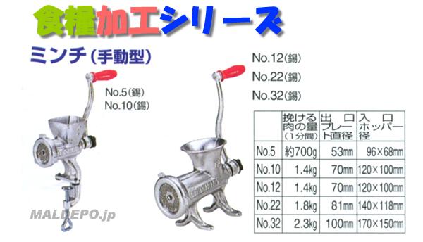 ミンチ(手動型) No5 宝田