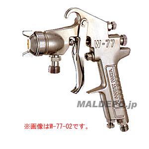 小形スプレーガン 圧送式(ノズル口径φ1.0mm) W-71-02 アネスト岩田【受注生産品】