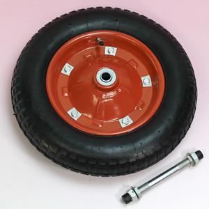 一輪車用 猫車用 エアータイヤ 一輪車タイヤ PR1301 軸付 お得 3.25x3.00-8 評価 黒