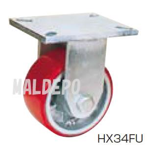 超重荷重用 HX スーパーストロングキャスター HX34FU-200 オーエッチ工業(OH) 固定 ウレタン φ200mm 900kg