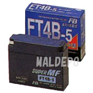 二輪車用MFバッテリー FT4B-5 古河電池