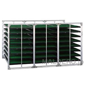 水平型 苗箱収納棚 BR-96 昭和ブリッジ 4x3x8箱【受注生産品】【個人法人別運賃】