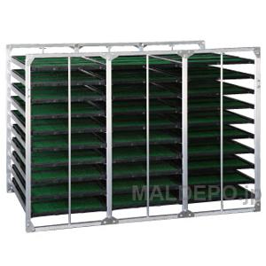 水平型 苗箱収納棚 BR-120 昭和ブリッジ 4x3x10箱【受注生産品】【個人法人別運賃】
