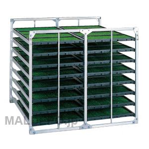 水平型 苗箱収納棚 NC-64 昭和ブリッジ 4x2x8箱【受注生産品】【個人法人別運賃】