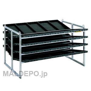 傾斜型 苗箱収納棚 NC-40K 昭和ブリッジ 5x2x4箱【受注生産品】【個人法人別運賃】