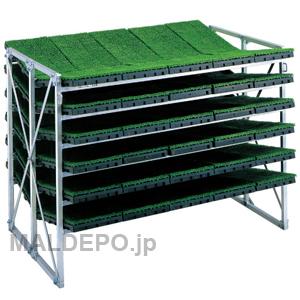 傾斜型 苗箱収納棚 NC-60KH 昭和ブリッジ 5x2x6箱 補強付【受注生産品】【個人法人別運賃】