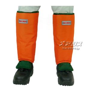 チップソー対応 すねガード オレンジ×グリーン MT571 MAC GREEN(マックグリーン/MAX/マックス)【受注生産品】