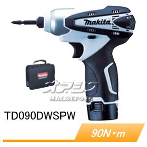 10.8V充電式インパクトドライバー TD090DWSPW マキタ(makita) 90Nm 充電器・バッテリ・ソフトケース付